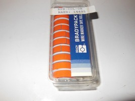 BRADYPACK WIRE MARKED TAPE ROLLS -ORANGE - PACKAGE OF 20 - NEW- H14 - $4.89