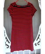 Chap's Women's Red Dress w/ Black Stripes Size Large - $9.99