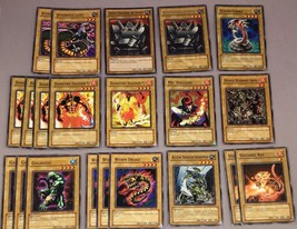 YU-GI-OH CARDS! lot of 21 Normal monsters Worm drake Darkfire Soldier Vo... - $14.03