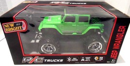 RC Trucks Jeep Wrangler New Birght Full Function Radio Control Green - $19.33
