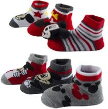 Mickey Mouse-Baby Boys Socks-6 Pack-Rattle Low Cut  image 3