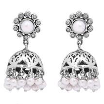 Indian Traditional Pearl Jhumki 925 Sterling Silver Women Wedding Earring - $45.25