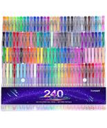 Gel Pens Set 120 Colored Gel Pen Plus 120 Refills For s Coloring Books NEW - $29.71