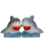 Shark Jaws King of the Ocean Ceramic Salt and Pepper Shakers Set - $14.84
