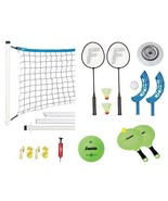 Outdoor Lawn Games Set Volleyball Net Badminton Yard Toys Franklin Sport... - $47.62