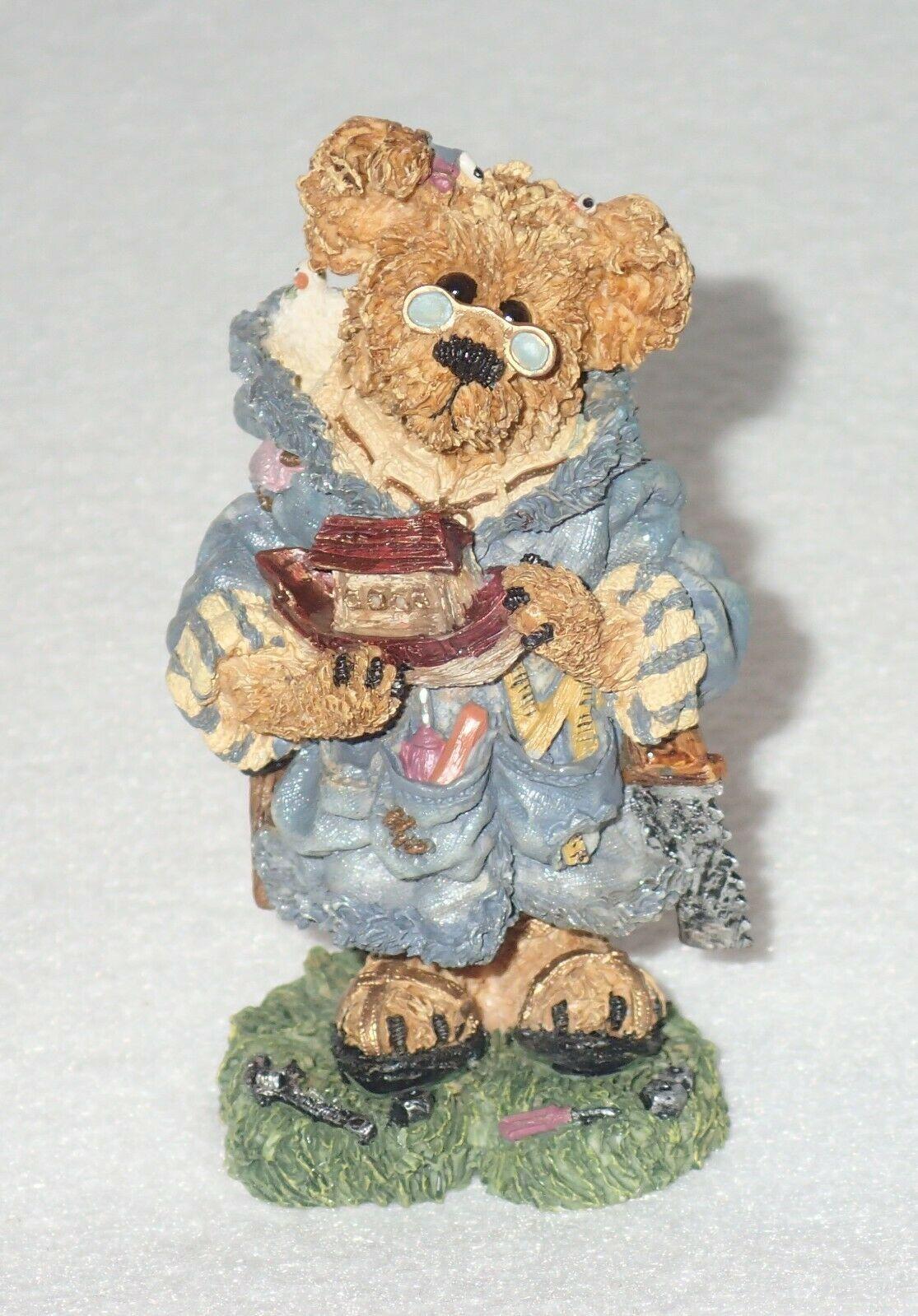 Boyd Bearstone Resin Bears Jeremy As Noah The Ark Builder Figurine #2426 7E
