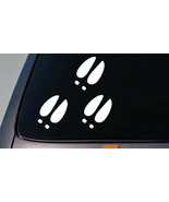 "Deer Footprint 4x3.5"" Sticker Set of 3 Hunting Bow hunting Decal D661 - $3.57"