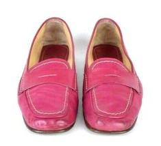 Coach Shari Raspberry Leather Penny Loafer Moccasin Shoes Driver Womens Size 7 B - $22.76