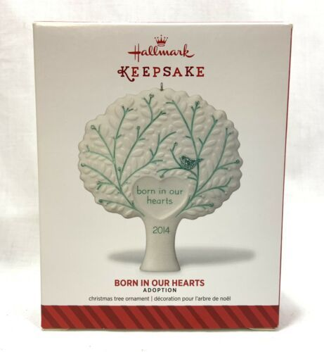 Primary image for  NEW 2014 Hallmark Keepsake Christmas Ornament Born In Our Hearts Adoption Tree