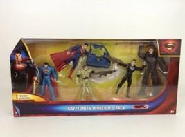 Superman Man of Steel Kryptonian Invasion Exclusive Action Figure 5 Pack... - $19.55