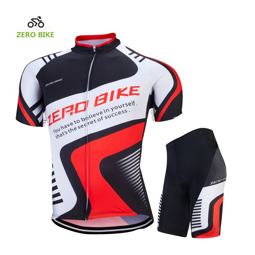 Primary image for ZEROBIKE Men Breathable Quick Dry Comfortable Short Sleeve Jersey + Padded Short