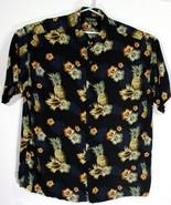 David Taylor Collection Mens 2XL XXL Hawaiian Shirt Floral Pineapple Pri... - $28.05