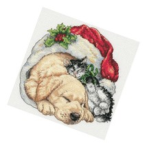 Dimensions Gold Collection Counted Cross Stitch Kit, Christmas Morning Pets,  - $23.99