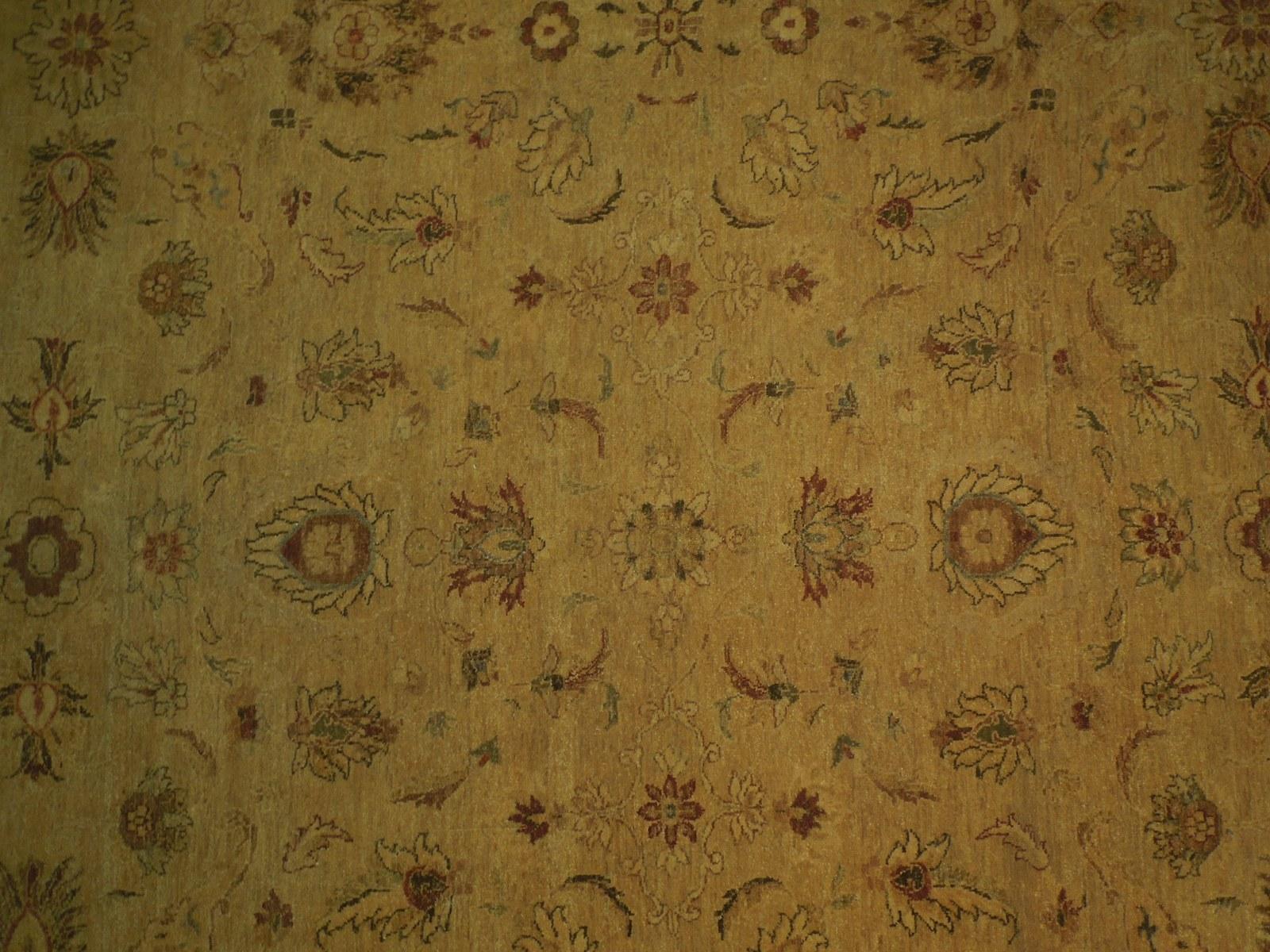 Honey Gold Wool Carpet 9' x 12' New Original Ziglar Oushak Hand-Knotted Rug image 6