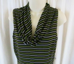 DressBarn Dress 10 Multi Color Stripes Sleeveless - $10.69