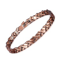 Magnetic Pure Copper Bracelets for Women Vintage Chain Health Energy Magnetic Br - $31.09