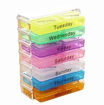 George Jimmy A Week 28 Grids Mini Portable Pill Case Assure to Remind - $19.75