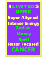 Money Spell Highly Charged Spell For Cancer Millionaire Magic for Luck M... - $47.00