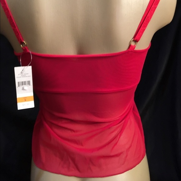 Natori Sheer Red Camisole Top 141005 Size S NEW