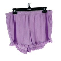 "Xhilaration Juniors Purple Ruffled Sleep Shorts Size Large Inseam 2"" NEW - $11.88"