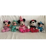 Disney Parks Minnie Mouse Plush Princess Pink Dress Red Holiday Lady Lib... - $19.80