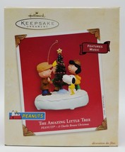Peanuts a Charlie Brown Hallmark Ornament Amazing Little Tree Music Chri... - $21.60