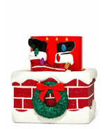 Bath & Body Works Christmas 3 Wick Ceramic Candle Holder Santa Chimney G... - £48.21 GBP