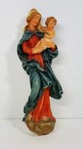 Gunter Kerzen Wax Virgin Mary Baby Jesus Figure Wall Hang Hand Painted G... - $24.99
