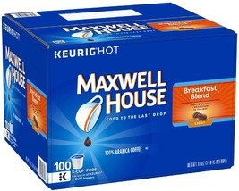 Maxwell House Breakfast Blend Coffee (100 K-Cups) - $56.09