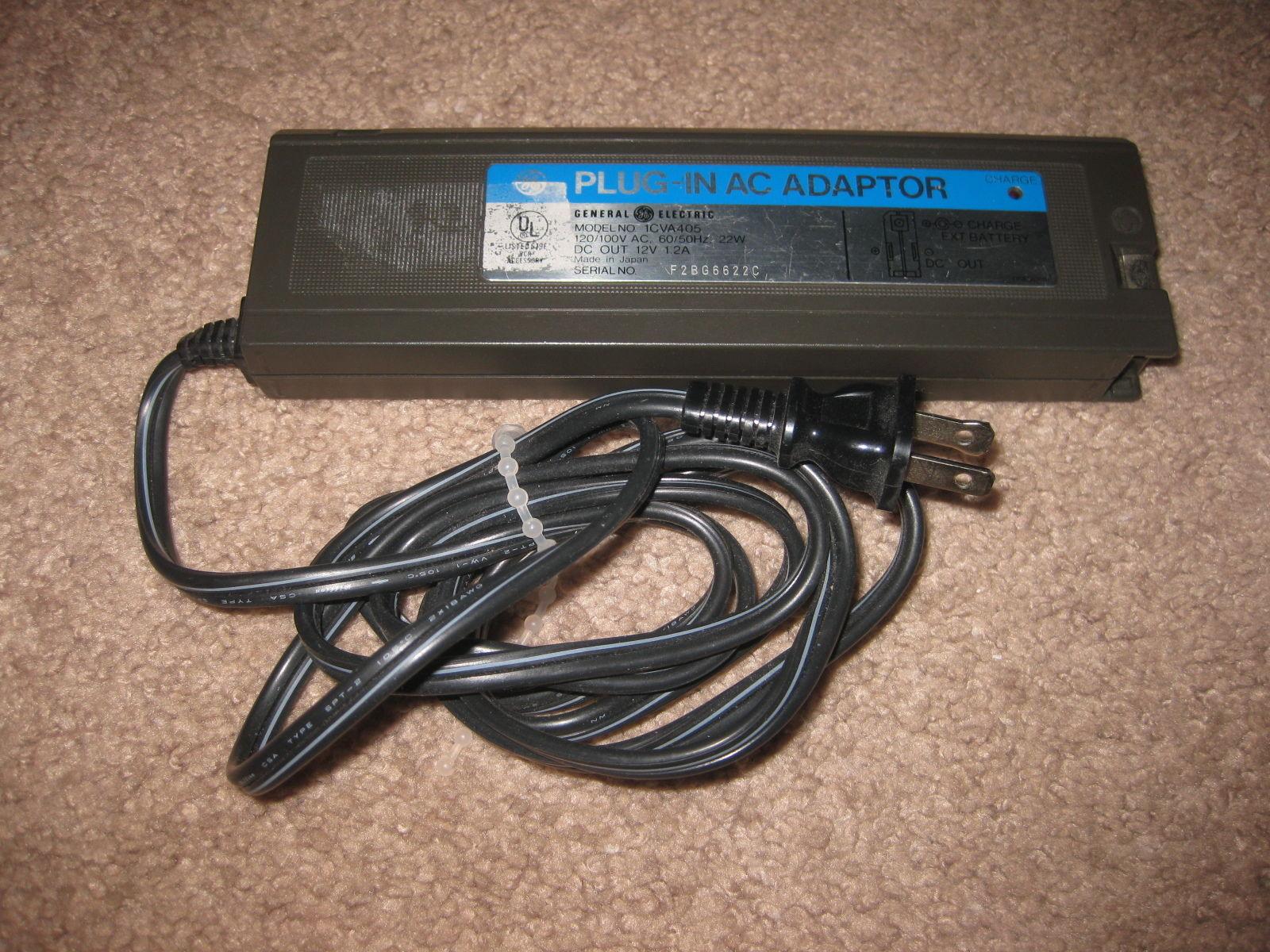 GENERAL ELECTRIC VHS PLUG IN AC ADAPTER 1CVA405