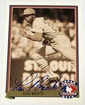 SIGNED - LOU BROCK 1991 Upper Deck Heroes of Baseball #H6 Trading Card w/CoA! - $242.50