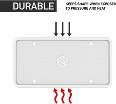 Flawless Silicone License Plate Frame, Rust-Proof, Rattle-Proof, Weather-Proof image 2