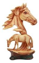 "Ebros Wildlife Scene Stallion Horse Bust Statue 12.5"" Tall Horse Family ... - $51.26"