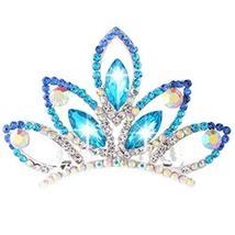 Nobel Plate Hair Comb Crystal Crown Bridal Headdress