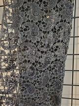 GORGEOUS Grey Paisley Sequins Shawl Wrap - $28.00