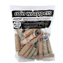 Coin-Tainer Assorted Quarter, Dimes, Nickels, Pennies, Coin Wrappers, Pa... - $4.87