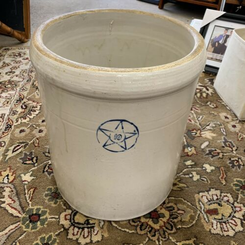 Primary image for Antique Star Stoneware Rare Crooksville Ohio 10 Gallon Crock Normal Wear No Lid