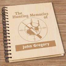 Personalized Hunting Photo Album-Engraved Hunting Memories Photo Album - $38.95