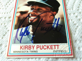 KIRBY  PUCKETT  HAND SIGNED  AUTHENTICATED  AUTOGRAPHED 1990 POST BASEBA... - $199.99