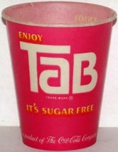 Vintage paper cup ENJOY TAB Coca Cola 4oz unused new old stock n-mint+ condition - $8.09