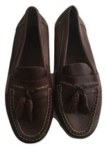 Johnson & Murphy brown Driving tassel leather dress loafers men's Shoes ... - $44.54