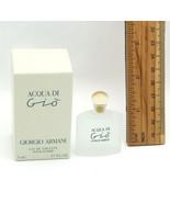 ACQUA DI GIO by GIORGIO ARMANI for Women EDT Splash Mini .17 OZ New in Box  - $15.83