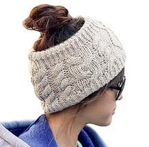 Ieasysexy Women Handmade Knit Headband Crochet Headwrap Ear Warmed Headb... - $11.63