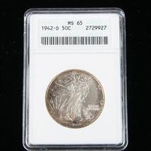 1942-D 50¢ Walking Liberty Half Dollar Coin, Graded MS-65, KM# 142 - $168.28