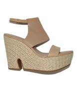 COLE HAAN Cut Out Heel Espadrille Wedge sandals Sandstone 9 B - $57.83