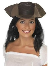 Leather Look Pirate Hat,  One Size, Pirate Fancy Dress #AU - £7.48 GBP