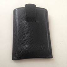 Louis Vuitton Black Taiga Leather ID-CC Case 4in x 3in. (MI0081) - $142.45