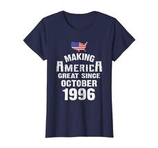 Uncle Shirts -   Make America Great Since October 1996 22nd Birthday Shirt Wowen image 4