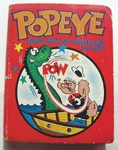 Big Little Book Popeye Ghost Ship Treasure Island 1967 Vintage Small Har... - $4.85