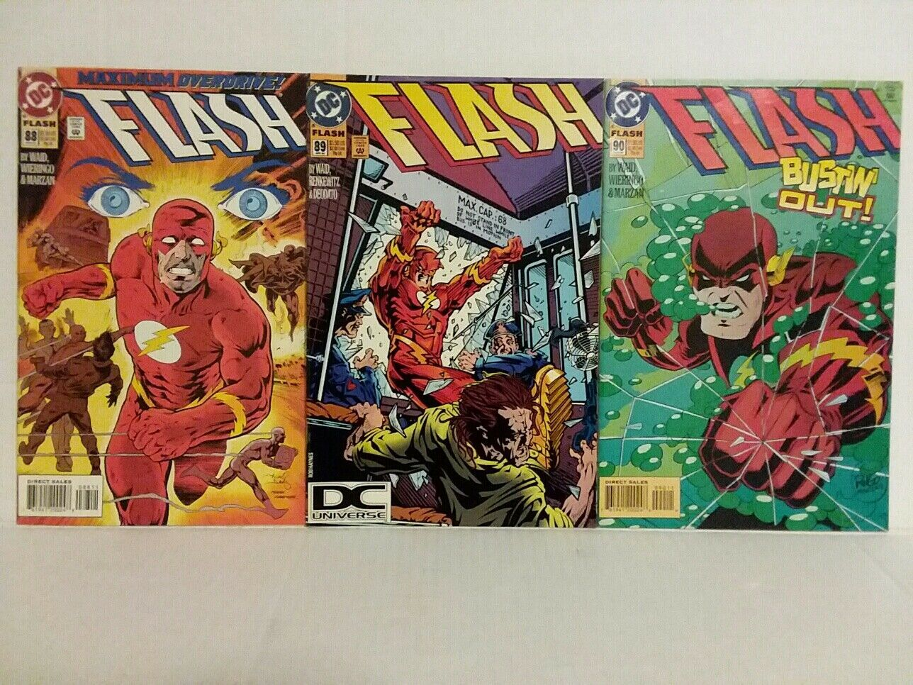 THE FLASH #88 - 90 - WAID AND DEODATO - FREE SHIPPING